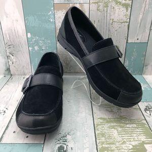 b.o.c. Born Erna Black Suede Leather Shoes W7